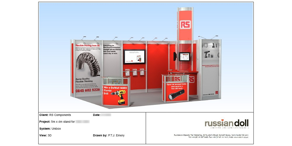 Exhibition stand for RS Components by Planet Indifferent